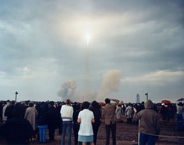 アポロ14号の打ち上げ時の様子