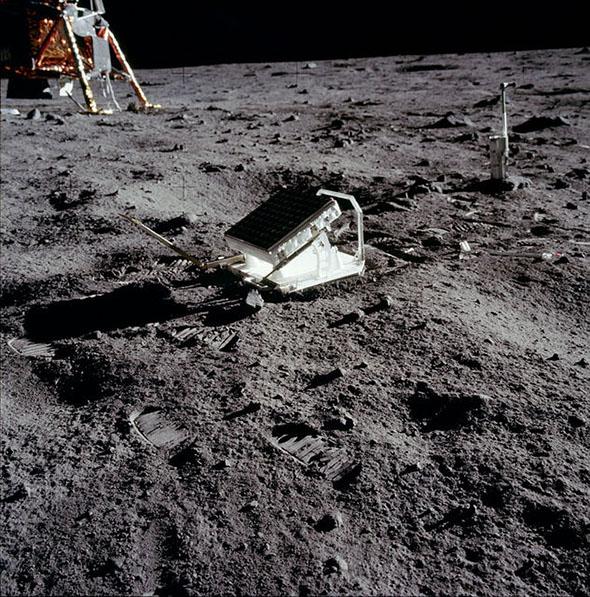 アポロ11号によって設置された反射鏡