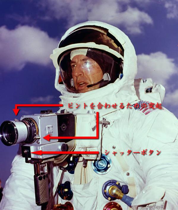アポロ13号のジム・ラベルとカメラ