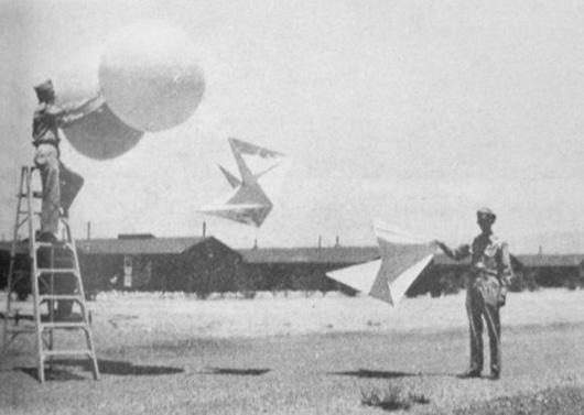 レーダー追尾訓練用気球